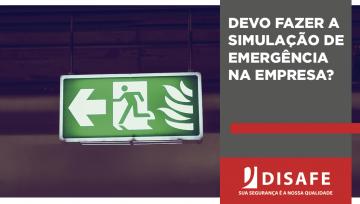 Devo fazer simulação de emergência na empresa?